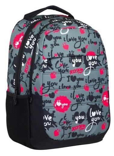 Ümit Çanta Cennec Love You Baskılı Kız Çocuk Okul Çantası Renkli
